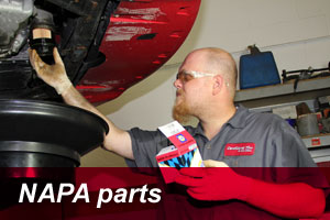 using NAPA car parts